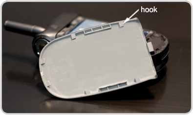 Fig. 1 - Cell phone battery compartment cover
